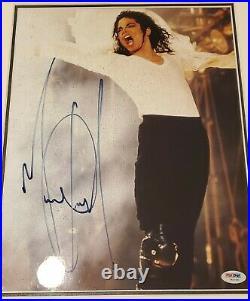Michael Jackson Autographed Photo PSA/DNA Original