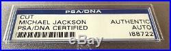 Michael Jackson Signed Autographed PSA/DNA