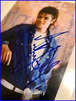Michael Jackson Vintage Autographed 8x10 COA PSA/DNA