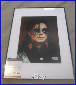 Michael Jackson autographed photo with PSA/DNA