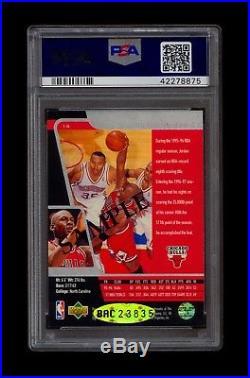Michael Jordan 1996-97 Upper Deck Sp Sample Autograph Psa/dna 8 Auto Uda Pop 1