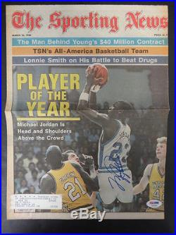 Michael Jordan Signed The Sporting News Cover Autograph Auto PSA/DNA AB04060