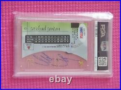 Michael Jordan autographed 1997 skybox E X 2001 auto card PSA/DNA 10 autograph