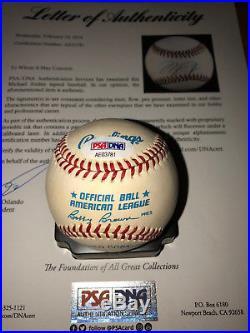 Michael Jordan signed auto PSA/DNA OAL Baseball Reds Barons ball autograph HOF