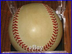 Mickey Mantle AUTOGRAPHED Rawlings AL Bobby Brown Baseball PSA/DNA LOA