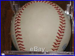 Mickey Mantle AUTOGRAPHED Rawlings Bobby Brown OML Baseball PSA/DNA
