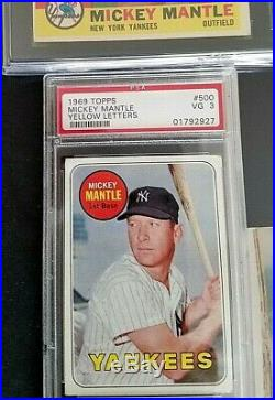Mickey Mantle Lot /w Autographed Photo Psa/dna Pre Certified