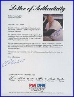Mickey Mantle No. 7 HOF Yankees Signed 8x10 Photo Autograph AUTO PSA/DNA LOA