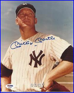 Mickey Mantle Psa/dna Graded Mint 9 Signed 8x10 Photograph Autographed #x97604