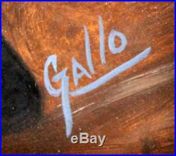 Mickey Mantle Signed Autographed Painting Framed Famous Gallo Image Psa/dna 7795