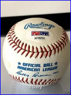 Mickey Mantle Signed Baseball Auto Autograph NL Ball mint white with cube PSA/DNA