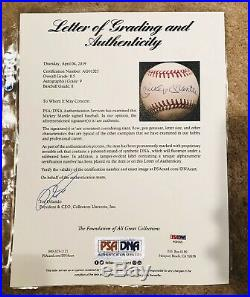 Mickey Mantle Signed Baseball PSA/DNA Authenticated 9 Autograph Grade PSA Auto