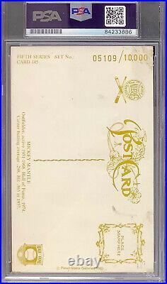 Mickey Mantle Signed Perez Steele Postcard Baseball HOF Mint 9 Autograph PSA/DNA