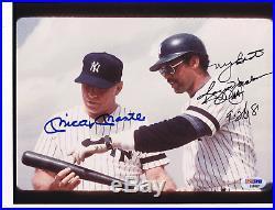 Mickey mantle & reggie jackson autograph photo psa/dna New York Yankees
