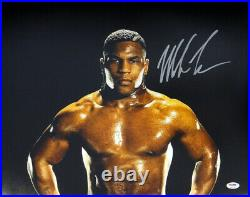 Mike Tyson Authentic Autographed Signed Framed 16x20 Photo Psa/dna 177393