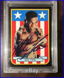Mike Tyson Psa/dna Certified Authentic Autograph Card