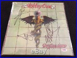 Motley Crue PSA/DNA Signed Autographed Dr Feelgood Album LP Record Mars Lee Neil
