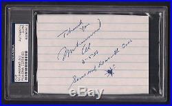 Muhammad Ali 3.5 x 5 Autographed Cut-PSA/DNA Slabbed-Boxing-Inscription-Signed