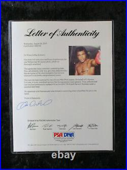 Muhammad Ali Autographed Signed 8 x 10 Photo PSA/DNA Letter of Authenticy LOA 10