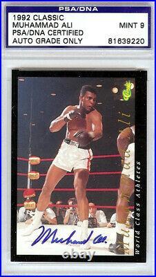 Muhammad Ali Autographed Signed Auto 1992 Classic Card Mint 9 PSA/DNA 81639220