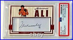 Muhammad Ali Boxing Champion Signed Custom Auto CARD 1/1 PSA/DNA Slabbed