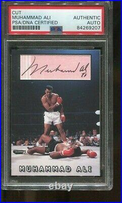 Muhammad Ali Signed Custom Card Cut Autographed Boxing PSA/DNA 9207