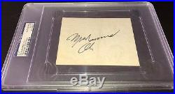 Muhammad Ali signed auto PSA/DNA cut vintage Cassius Clay autograph