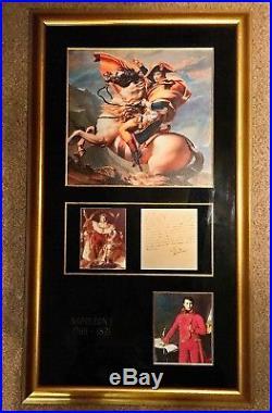 NAPOLEON BONAPARTE Signed 1807 Handwritten Letter Framed PSA/DNA MINT