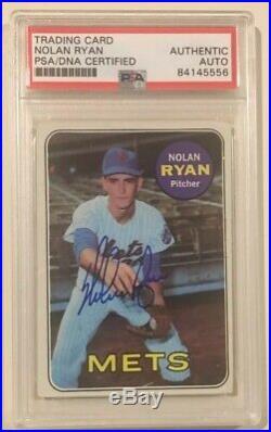 NOLAN RYAN 1969 Topps Signed Autographed Baseball Card PSA/DNA