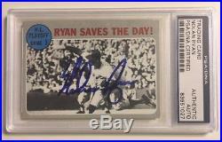 NOLAN RYAN 1970 Topps Signed World Series Autographed Baseball Card PSA/DNA #197