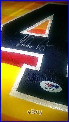 NOLAN RYAN autographed Original SANDKNIT Rainbow jersey HOUSTON ASTROS PSA DNA