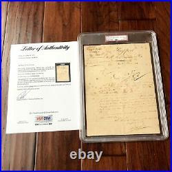 Napoleon Bonaparte PSA/DNA Slabbed Encapsulated Autograph Signed Document