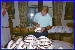 Nick Saban Autograph Signed Alabama Football Inscribed Includes Psa/dna
