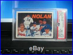 Nolan Ryan 1991 Upper Deck Heroes C/L #18 Auto Autograph PSA/DNA 8