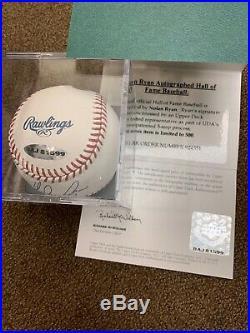 Nolan Ryan Autographed Hall of Fame Baseball PSA/DNA & UDA