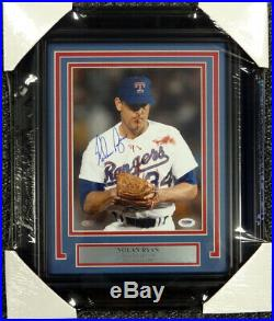 Nolan Ryan Autographed Signed Framed 8x10 Photo Rangers Bloody Psa/dna 94192
