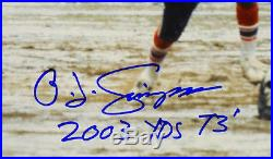 Oj Simpson Autographed Buffalo Bills 16x20 Photo Psa/dna 2003 Yds 73 Inscription