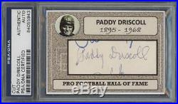 PADDY DRISCOLL autograph cut PSA/DNA certified/slabbed (SIGNED BEARS) HOF