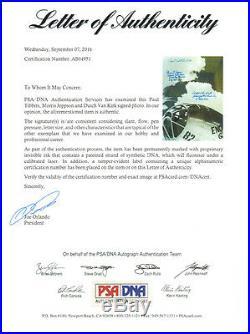 PAUL TIBBETS VAN KIRK JEPPSON SIGNED 8x10 PHOTO ENOLA GAY ATOMIC BOMB PSA/DNA