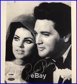 PRISCILLA PRESLEY autograph signed 8x10 Wedding photo with Elvis PSA/DNA COA