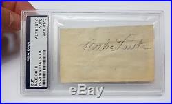 PSA/DNA AUTHENTIC BABE RUTH Cut Autograph