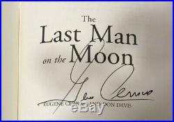 PSA/DNA Apollo 17 astronaut Gene CERNAN book Last Man on the Moon FLAT-SIGNED