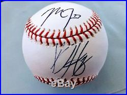 PSA/DNA Autographed Mike Trout/Bryce Harper Rookie Baseball