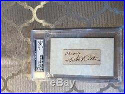 PSA / DNA Babe Ruth Cut autograph