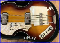 PSA/DNA Beatles PAUL MCCARTNEY Signed Autographed Hofner Bass Guitar Left Handed