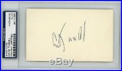 PSA/DNA Emlen Em Tunnell Index Card HOF RARE Signed Auto Autograph