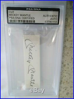PSA/DNA MICKEY MANTLE Cut Auto Autograph Signature Yankees