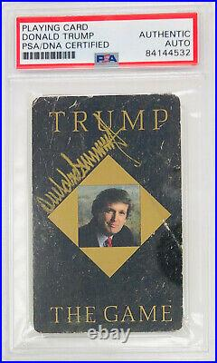 PSA/DNA President DONALD TRUMP Signed Autographed THE GAME Playing Card Auto