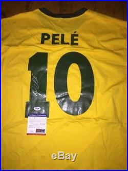 Pele Brazil Brasil Autographed Signed Jersey PSA/DNA Certified