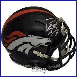 Peyton Manning Autographed Denver Broncos Football Speed Mini Helmet PSA DNA
